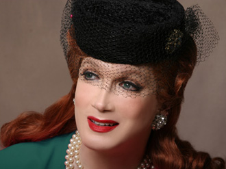 Charles Busch is THE LADY IN QUESTION, photo by David Rodgers
