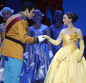 Frédéric Antoun and Cassandre Berthon in CENDRILLON, photo by Carol Rosegg