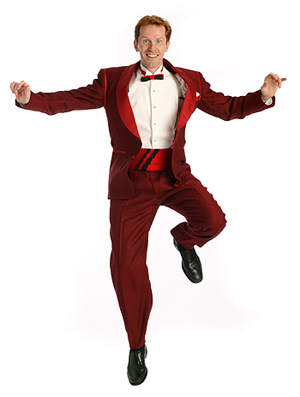 Jeffry Denman in WHITE CHRISTMAS; photo by Joan Marcus