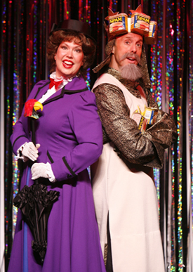 Valerie Fagan and Michael West in FORBIDDEN BROADWAY, photo by Carol Rosegg
