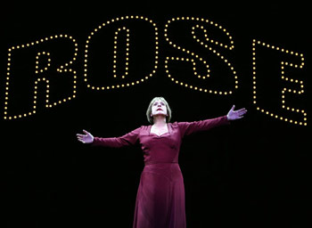 Patti LuPone in GYPSY; photo by Joan Marcus