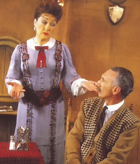 Ethel Merman and Erving Harmon in GYPSY; photo from BROADWAY MUSICALS: THE 101 GREATEST SHOWS OF ALL TIME, Black Dog & Leventhal Publishers