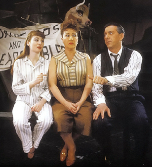 Ethel Merman with Sandra Church and Jack Klugman in GYPSY; photo from BROADWAY MUSICALS: THE 101 GREATEST SHOWS OF ALL TIME, Black Dog & Leventhal Publishers