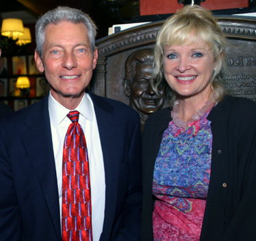 Angelo Del Rossi and Christine Ebersole; photo by Michael Portantiere
