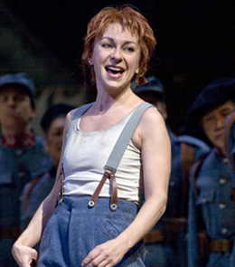 Natalie Dessay in LA FILLE DU REGIMENT; photo by Ken Howard