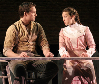 Alek Shrader and Jennifer Zetlan in OUR TOWN; photo by Peter Schaaf