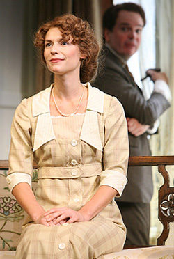 Claire Danes and Jefferson Mays in PYGMALION, photo by Joan Marcus