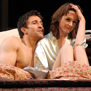 Jonathan Cake and Emily Mortimer in PARLOUR SONG; photo by Doug Hamilton