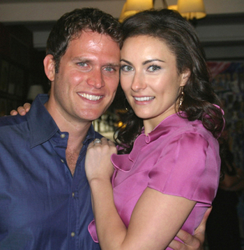 Steven Pasquale and Laura Benanti; photo by Michael Portantiere