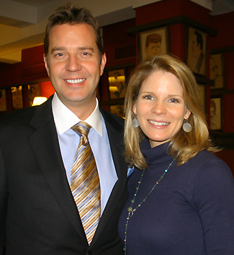 Steven Reineke and Kelli O'Hara; photo by Michael Portantiere