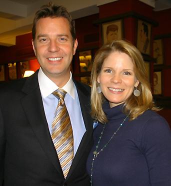 Steven Reineke and Kelli O'Hara; photo by Michael Portantiere