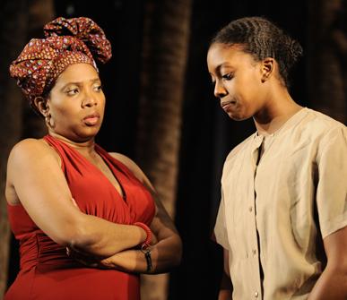 Saidah Arrika Ekulona and Condola Rashad in RUINED; photo by Liz Lauren