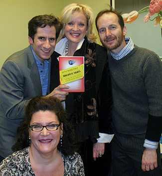 Seth Rudetsky, Christine Ebersole, Denis O'Hare, and Kristine Zbornik at Barnes & Noble; photo by Michael Portantiere