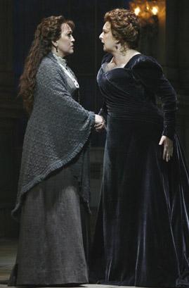 Katharine Goeldner and Lauren Flanigan in VANESSA, photo by Carol Rosegg