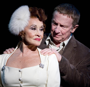 Chita Rivera and George Hearn in THE VISIT; photo by Scott Suchman