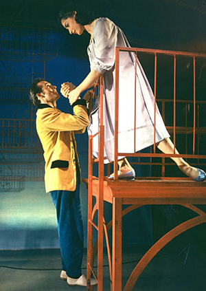 Larry Kert and Carol Lawrence in the original production of WEST SIDE STORY; Time & Life Pictures/Getty Images