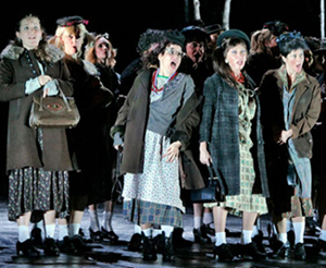The witches of MACBETH, photo by Ken Howard/Metropolitan Opera